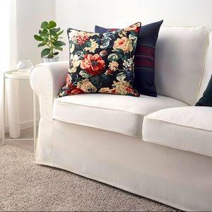 "Ikea Leikny 20""x 20"" dark floral cushion covers x4"